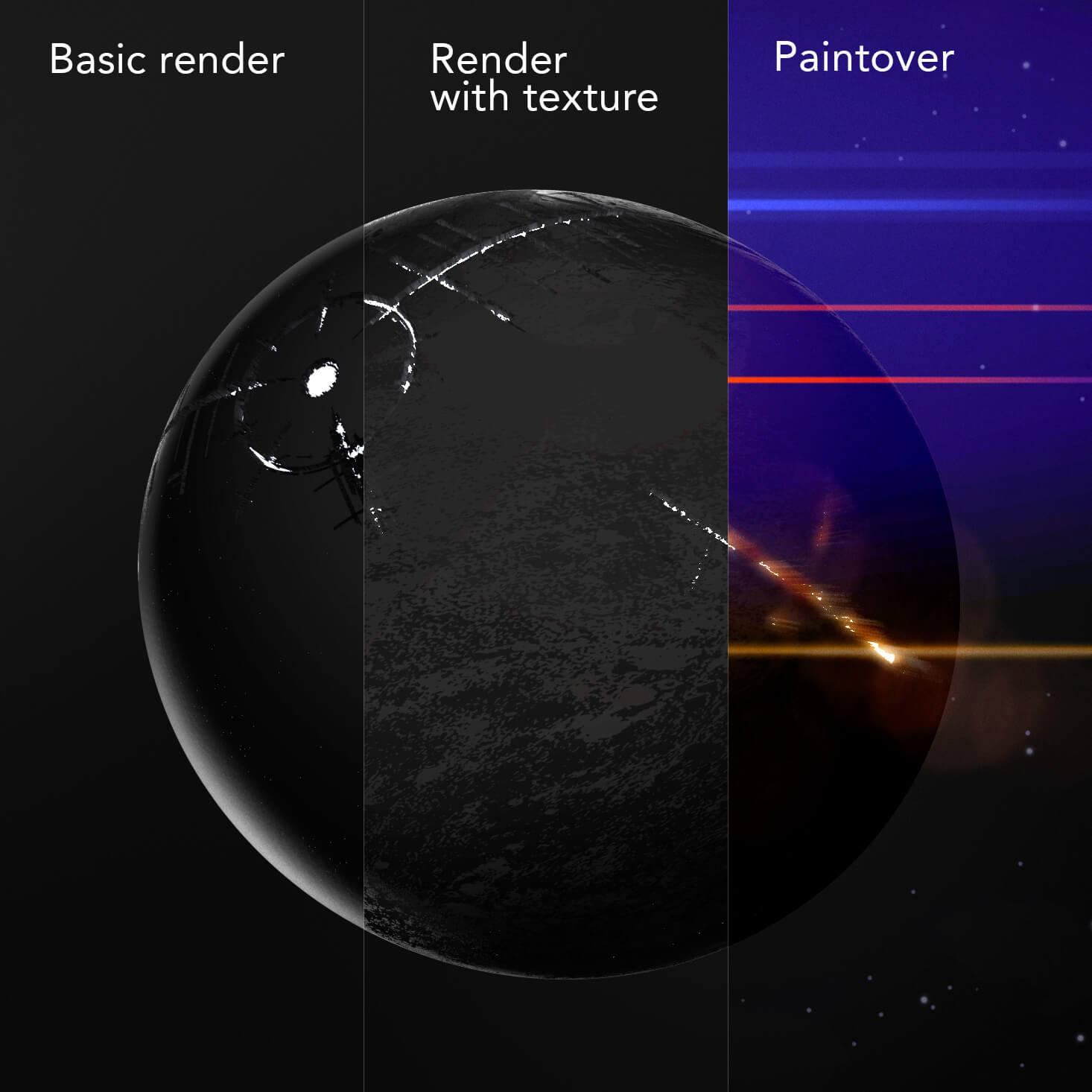 progress of planet artwork