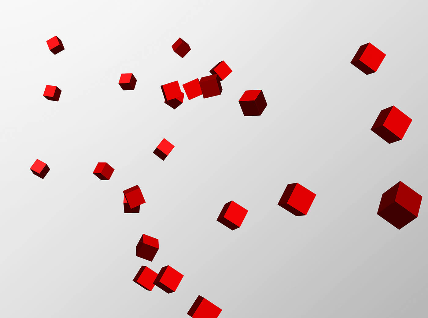 scattered cubes