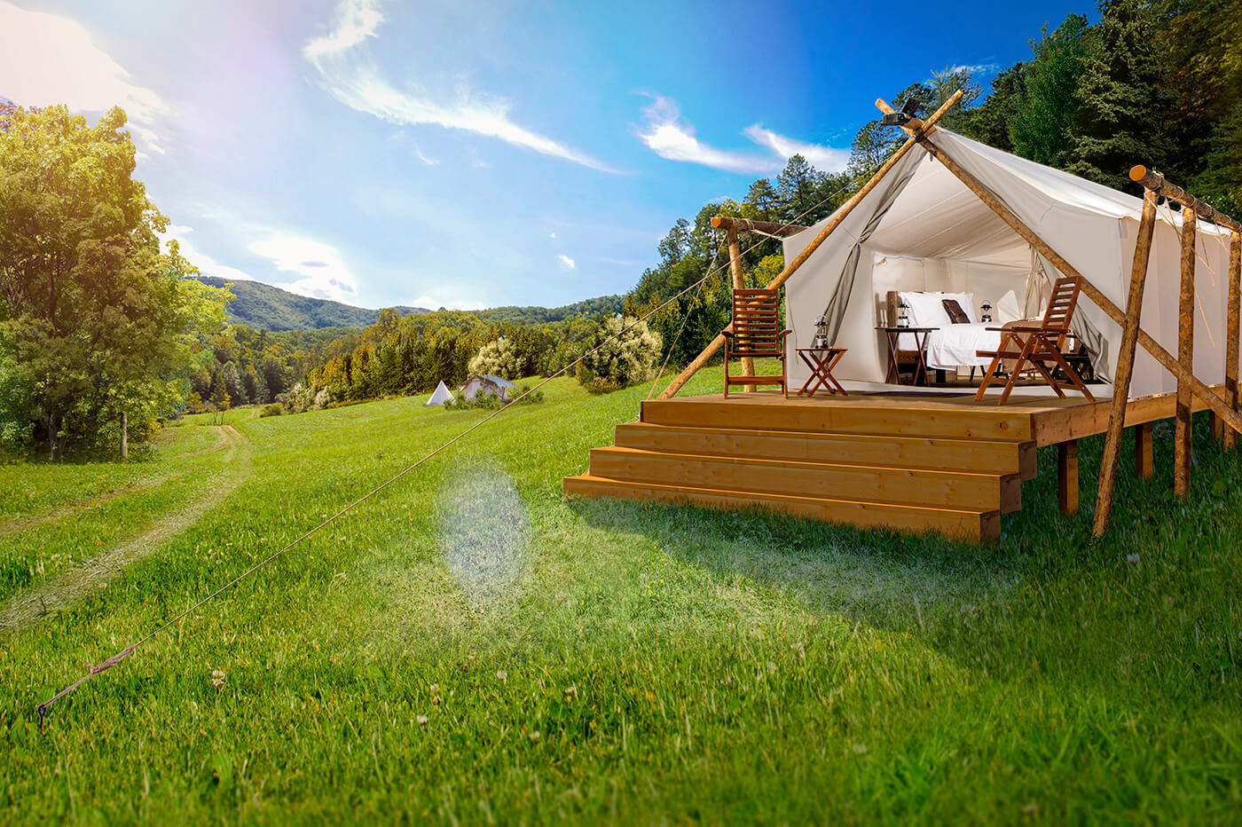 artwork showing new camp for under canvas