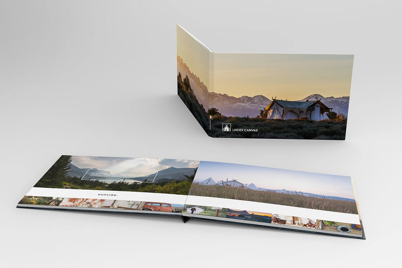 photographic inspiration book for under canvas